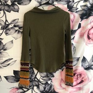 Free People Olive Cuffed Thermal